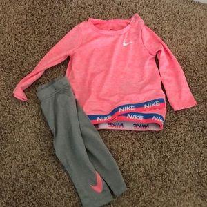Toddler girl Nike set- 12 months